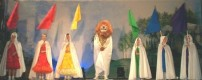 Lion & Villagers with Flags
