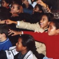SA kids pointing